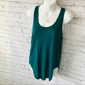 LEITH racerback tank top S rounded hem